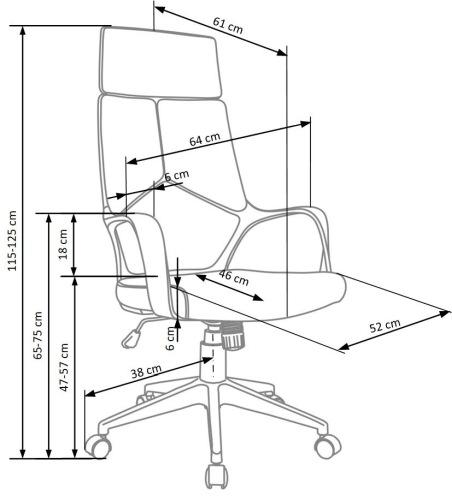 Fotel biurowy obrotowy Voyager Halmar