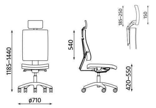 Ergonomiczne krzesło biurowe obrotowe 4ME-W HRUA Soft Seat ESP Nowy Styl