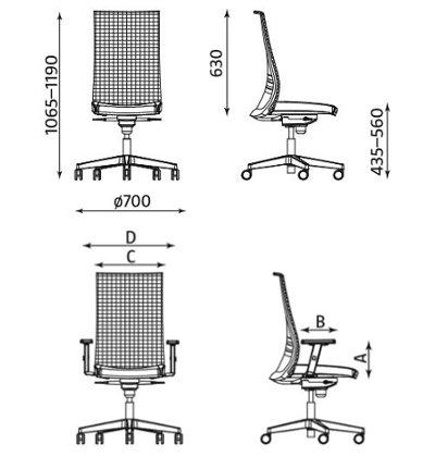 Krzesło biurowe obrotowe Altum HB Mesh Nowy Styl