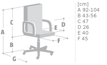 Krzesło obrotowe Antara GTP firmy Nowy Styl