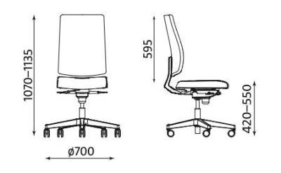 Krzesło biurowe obrotowe Antero UPH Nowy Styl