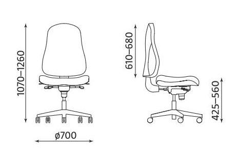 Krzesło biurowe obrotowe Bizzi Nowy Styl