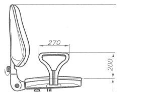 Wymiary krzesła biurowego Bravo Profil gtp4 ts02 CPT Nowy Styl