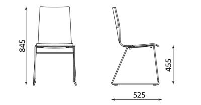 Wymiary krzesła Cafe VII CFS-ROD Nowy Styl