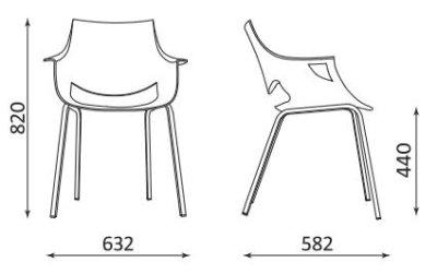 Wymiary krzesła Fano Nowy Styl