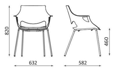 Wymiary krzesła Fano Seat Plus Nowy Styl