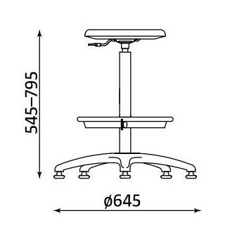 Wymiary krzesła Goliat RB-BL TS02 firmy Nowy Styl