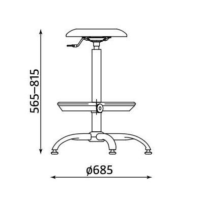Wymiary krzesła Goliat RB-CR ST02 firmy Nowy Styl