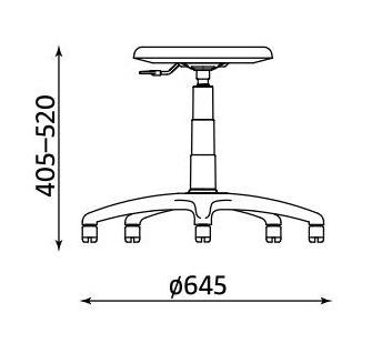 Wymiary krzesła Goliat TS02 firmy Nowy Styl
