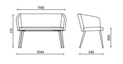 Sofa dwuosobowa Hello! 4L Duo Puzzle LWM firmy Nowy Styl