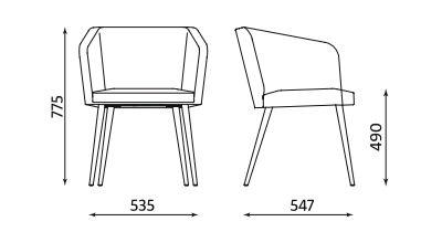 Fotel Hello! LWM 4L firmy Nowy Styl