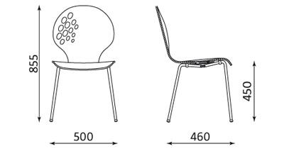 Wymiary krzesła Lakka Nowy Styl