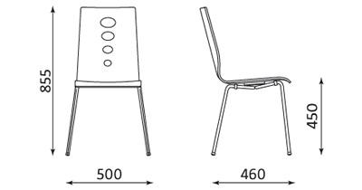 Wymiary krzesła Lantana Nowy Styl