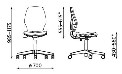Krzesło biurowe obrotowe Master 10 TS25 CPT Nowy Styl