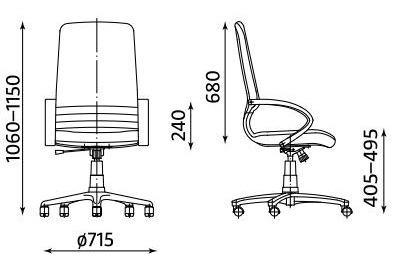 Fotel biurowy obrotowy Mirage TS06 Nowy Styl