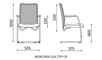 Krzesło biurowe konferencyjne Montana LUX CFP-CR Nowy Styl