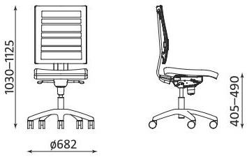 Krzesło biurowe @-Motion PLUS ST33 RTS FS Nowy Styl