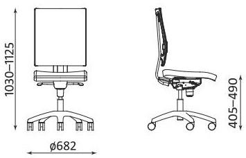 Krzesło biurowe @-Motion U ST33 RTS FS Nowy Styl