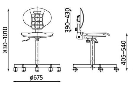Wymiary krzesła Nargo ST26-BL RTS firmy Nowy Styl