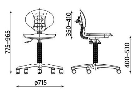 Wymiary krzesła Nargo TS06 RTS firmy Nowy Styl