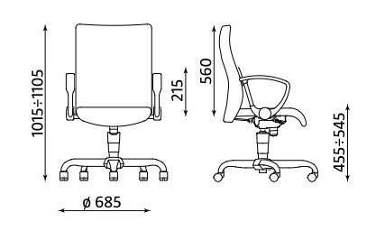 Krzesło biurowe pracownicze obrotowe NEO GTP9 FS Nowy Styl