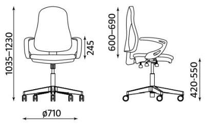 Krzesło biurowe Offix TS25 GTP41 Nowy Styl