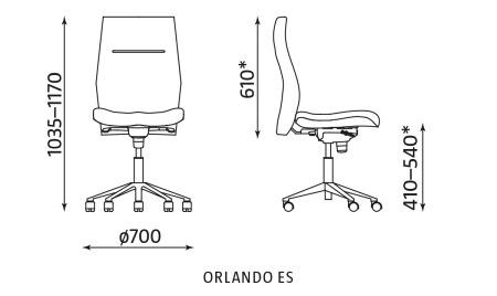 Krzesło biurowe ORLANDO ES Nowy Styl
