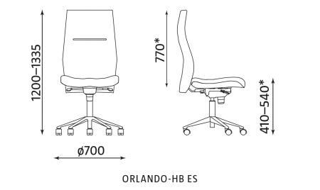 Krzesło biurowe ORLANDO HB ES Nowy Styl