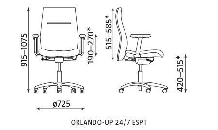 Krzesło biurowe ORLANDO-UP 24/7 ESPT Nowy Styl