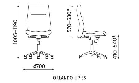 Krzesło biurowe ORLANDO-UP ES Nowy Styl