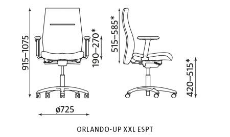 Krzesło biurowe ORLANDO-UP XXL ESPT Nowy Styl