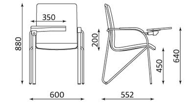Wymiary krzesła Samba TR-xx Nowy Styl