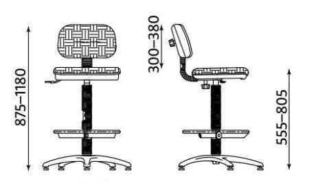 Wymiary krzesła Senior RB-BL TS02 firmy Nowy Styl