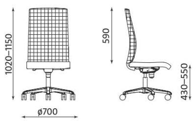 Krzesło biurowe obrotowe Sit.Net Nowy Styl