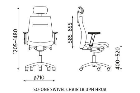 Ergonomiczne krzesło biurowe So-One LB UPH HRUA Nowy Styl