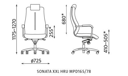 Fotel gabinetowy Sonata XXL HRU MPD165/78 Nowy Styl