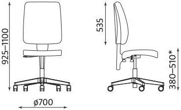 Krzesło pracownicze Taktik firmy Nowy Styl