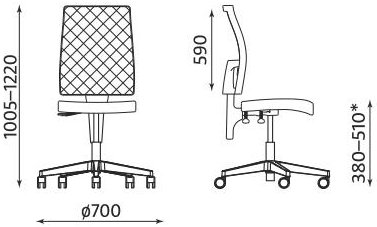 Krzesło biurowe obrotowe Taktik Mesh firmy Nowy Styl