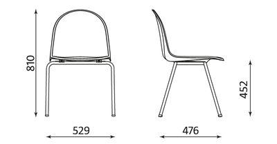 Wymiary krzesła Amigo click Nowy Styl