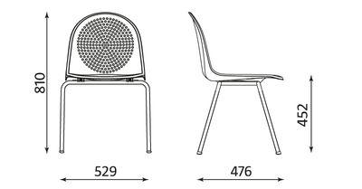 Wymiary krzesła Amigo 4L Nowy Styl