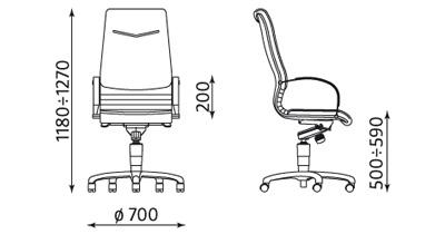 Fotel gabinetowy Artus steel04 chrome firmy Nowy Styl