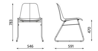 Wymiary krzesła Beta CFS Chrome Nowy Styl