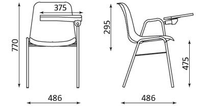 Wymiary krzesła Beta TR Chrome Nowy Styl