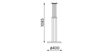 Wymiary podstawy stołu Bistro Table 1100 Nowy Styl
