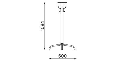 Wymiary podstawy stołu Cafe Table 1100 Nowy Styl
