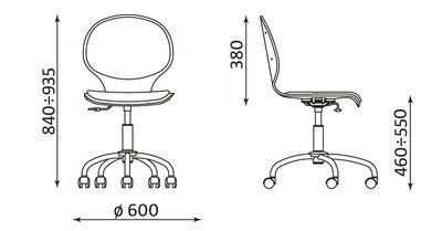 Wymiary krzesła Cafe VI GTS firmy Nowy Styl