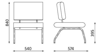Wymiary krzesła Conect II Nowy Styl