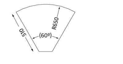 Wymiary łącznika do krzeseł Conect II Shelf 60° Nowy Styl