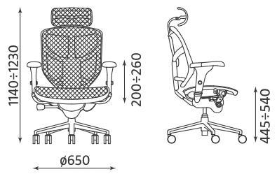 Krzesło biurowe obrotowe Enjoy R HRMA Ergohuman Nowy Styl