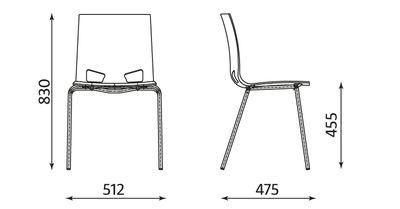Wymiary krzesła Fondo Nowy Styl